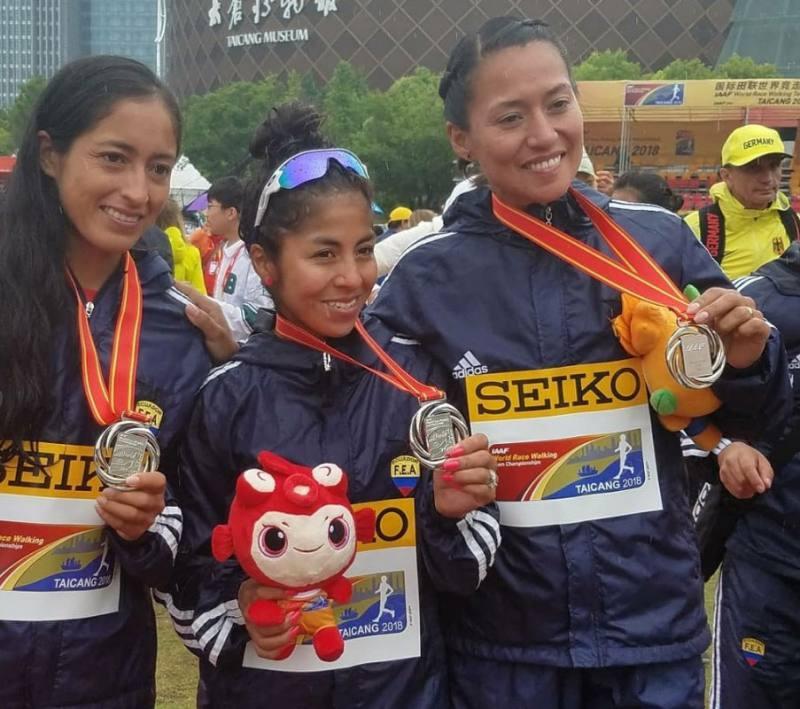 Photo of Ecuador gana histórica medalla de plata en los 50 km de marcha femenina por equipos