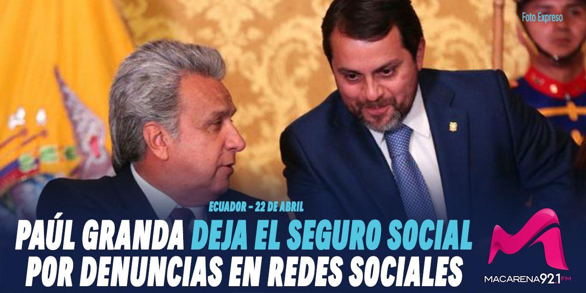 Photo of Paúl Granda deja el Seguro Social por denuncias en redes sociales