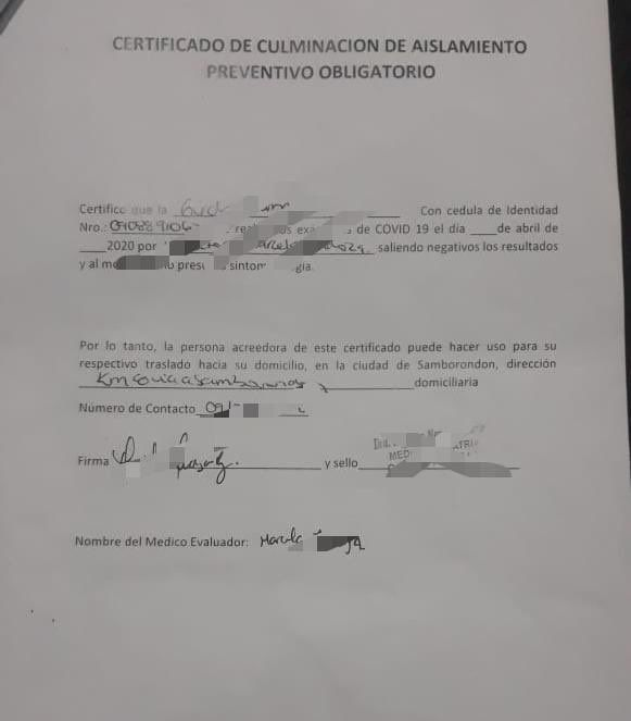 Photo of Policía detuvo a doctora que firmó falso cumplimiento de aislamiento